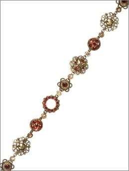 Floral Filigree Collegiate Collection Bracelet