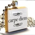 Scrabble Game Tile Carpe Diem Pendant Charm
