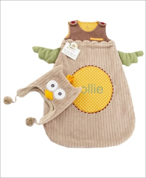 Owl Snuggle Sack and Cap Set