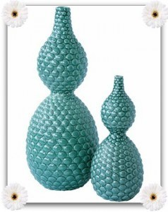 Blue Pebble Vase