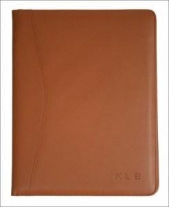 Personalized Leather Pad Portfolio