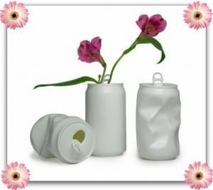Porcelain Can Vases