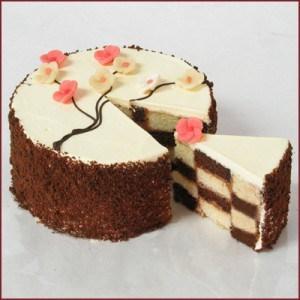 Spring Checker Cake