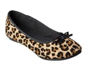 Girls' Cherokee Leopard Ballet Flat