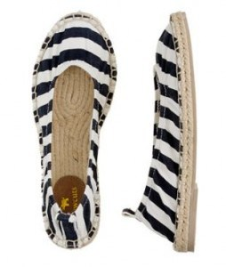 Girls' Stripe Espadrille Ballet Flats Stripe