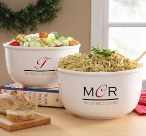 Chef's Monogram Personalized Serving Bowl