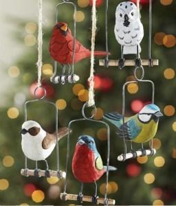 Handcrafted Birds on Swings
