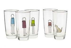 PERSONALIZED FAMILY GLASSWARE