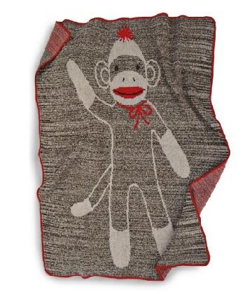 Sock Monkey Throw