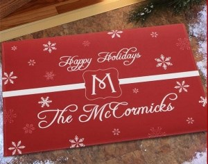 Winter Wonderland Personalized Doormat