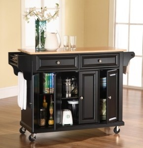 Crosley Kitchen Cart with Wood Top | The Mindful Shopper