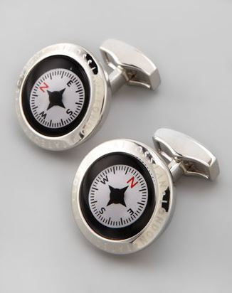 Compass Cuff Links | The Mindful Shopper