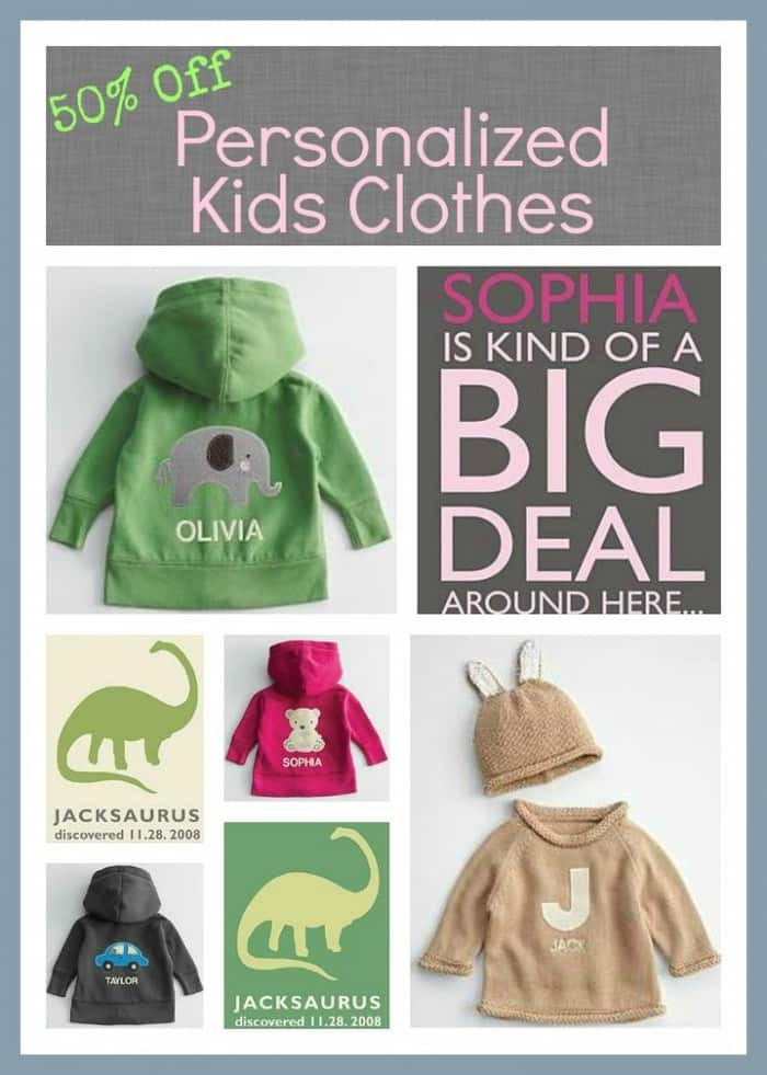 50% Off Personalized Kids Clothes