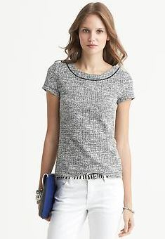 Banana Republic Tweed Top | Fashionable Fall Pieces | The Mindful Shopper