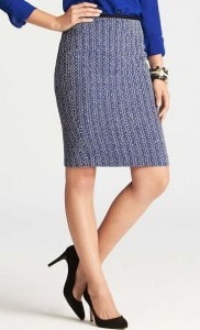 Luxe Tweed Pencil Skirt | Fashionable Fall Pieces | The Mindful Shopper