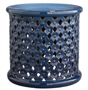 Diamond-Pattern Stool | Vibrant Fall Colors | The Mindful Shopper