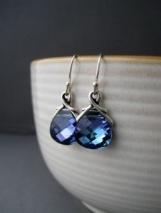 Lavender Crystal Earrings | Vibrant Fall Colors | The Mindful Shopper