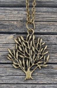 Antique Bronze Tree of Life Charm Pendant