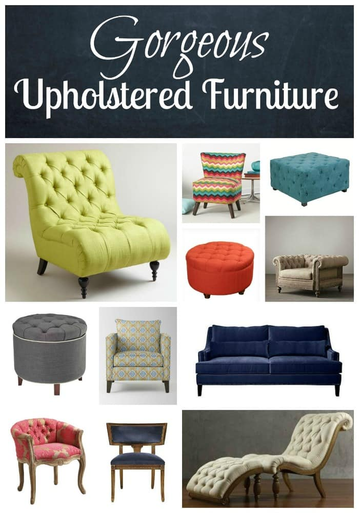 Gorgeous Upholstered Furniture | The Mindful Shopper