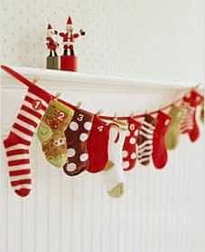 Martha Stewart Baby Sock Advent Calendar