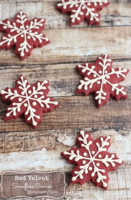 Red Velvet Snowflake from Created By Diane