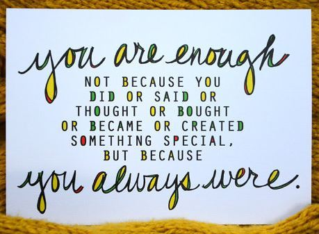You Are Enough by Liv Lane