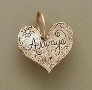 Gold Always Heart Charm | The Mindful Shopper | Valentine's Day Picks