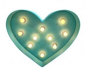 Heart Marquee Light | The Mindful Shopper | Valentine's Day Picks