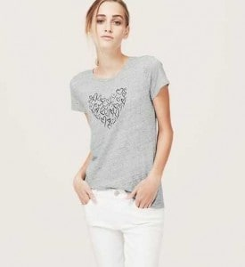 Heart Print Cotton Tee | The Mindful Shopper | Valentine's Day Picks