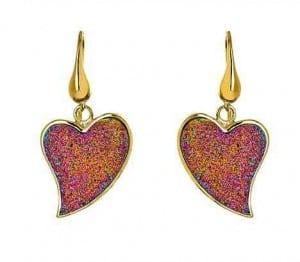 Heart Shape Peacock Druzy Earrings | The Mindful Shopper | Valentine's Day Picks
