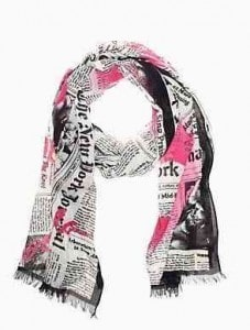 Kate Spade Newspaper Print Scarf | Fabulous Scarves | The Mindful Shopper