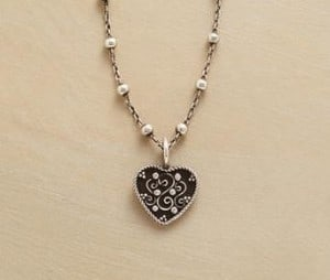 Scrolled Heart Necklace | The Mindful Shopper | Valentine's Day Picks