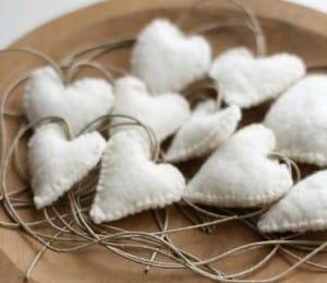 White Felt Hearts | The Mindful Shopper | Valentine's Day Picks
