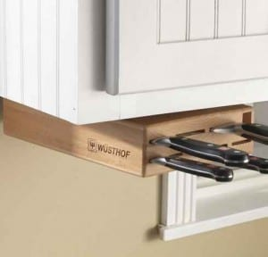 Wusthof Under Cabinet Knife Block | Top Pins and Posts | The Mindful Shopper
