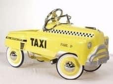 Retro Taxi Pedal Car