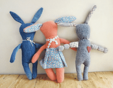 Recycled Plush Bunny | Darling Easter Basket Ideas