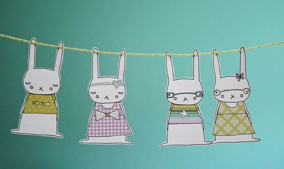 Bunny Garland Printable from Ginger and George