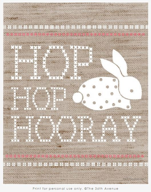 Free Burlap Easter Printable from The 36th Avenue