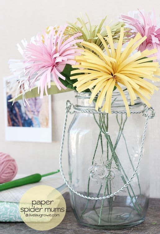 DIY Paper Spider Mums from Live Laugh Rowe