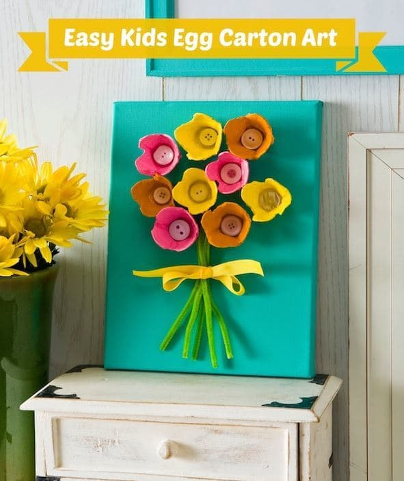 Egg Carton Flowers from Mod Podge Rocks