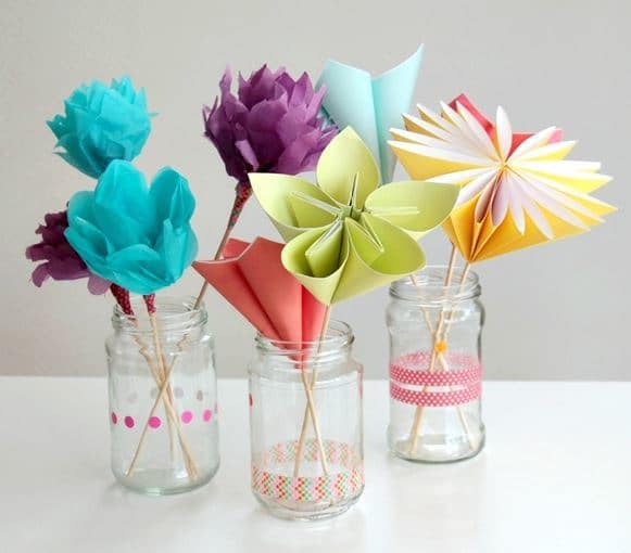 Paper DIY Flower Bouquets from Tuts Plus