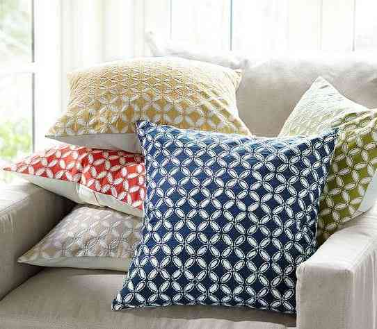 Audrey Eyelet Applique Pillow Covers | Decorate Your Home with These Bold and Beautiful Colors of Summer | The Mindful Shopper