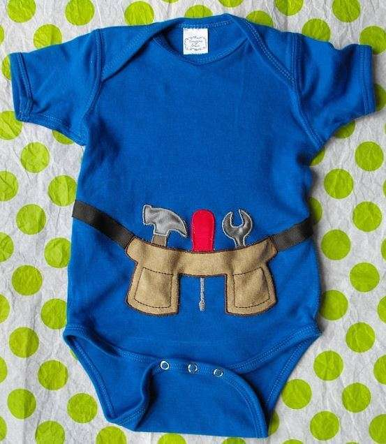 Blue Tool Belt Onesie | Adorable Baby Onesies