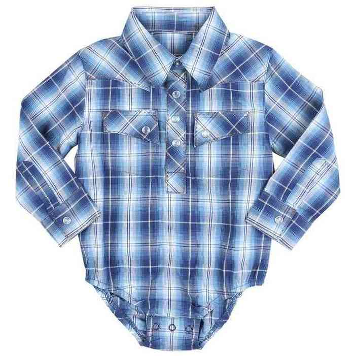 Blue and White Plaid Onesie | Adorable Baby Onesie