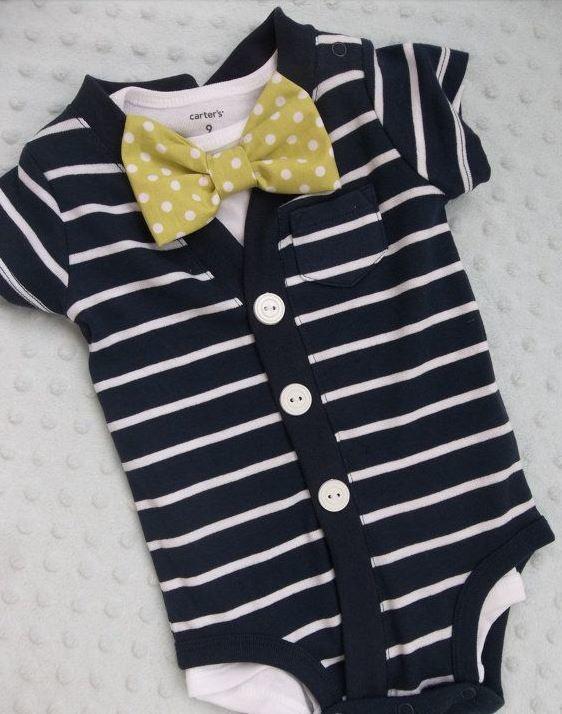Cardigan Bowtie Onesie | Adorable Baby Onesies