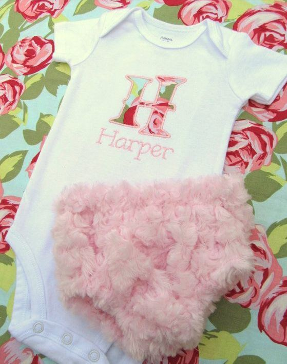 Personalized Embroidered Bodysuit with Diaper Cover | Adorable Baby Onesies