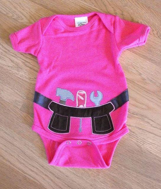 Pink Tool Belt Onesie