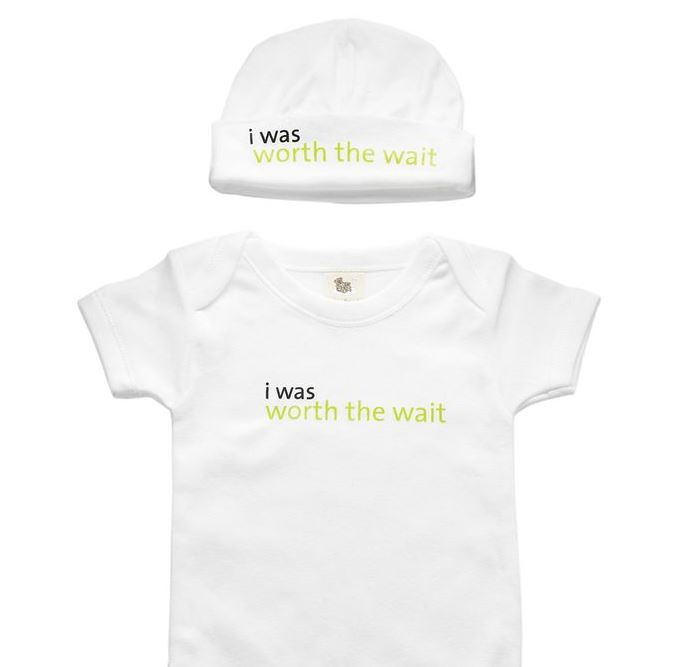 Worth The Wait Babysuit & Hat | Adorable Baby Onesies