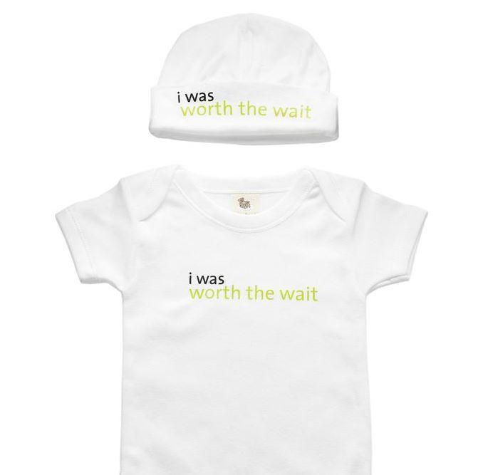 Worth The Wait Babysuit & Hat | Adorable Baby Onesies