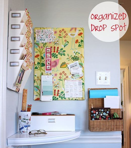 Organized Drop Spot from Hi Sugar Plum | Create A Fabulous Kitchen Command Center